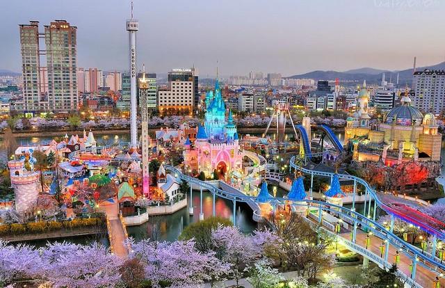 Lotte world สวนสนุกเกาหลี